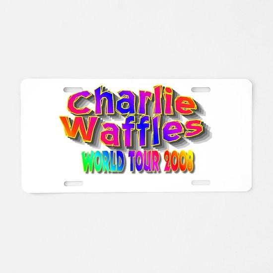 charlie waffles.jpg Aluminum License Plate
