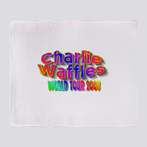 charlie waffles Throw Blanket