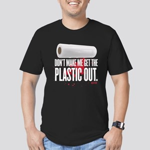 Get The Plastic Out Men's Fitted T-Shirt (dark)