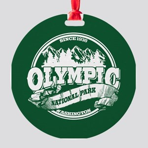 Olympic Old Circle Round Ornament