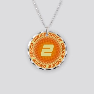 Deuce #2 Necklace Circle Charm