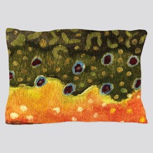 Brook Trout Fly Fishing Pillow Case