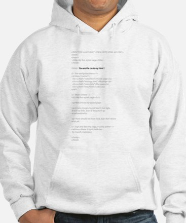Your the CSS to My HTML Hoodie