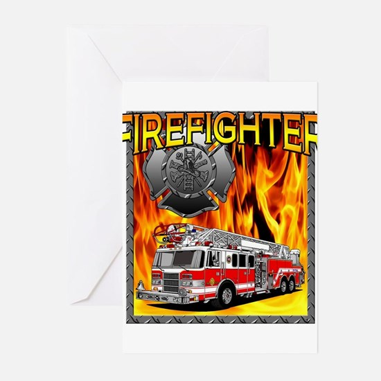 2-FIREFIGHTER 1 DESIGN Greeting Cards