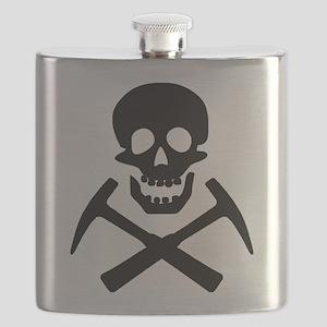 Rockhound Skull Cross Picks Flask