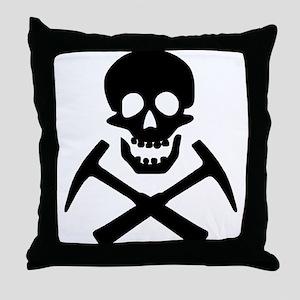 Rockhound Skull Cross Picks Throw Pillow