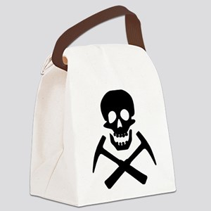 Rockhound Skull Cross Picks Canvas Lunch Bag