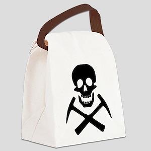 Rockhound Skull Cross Picks Canvas Lunch Bag