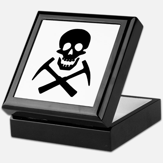 Rockhound Skull Cross Picks Keepsake Box