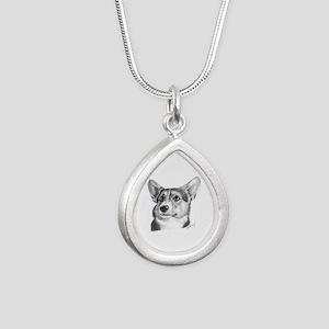 Corgi Silver Teardrop Necklace