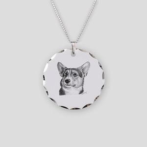 Corgi Necklace Circle Charm