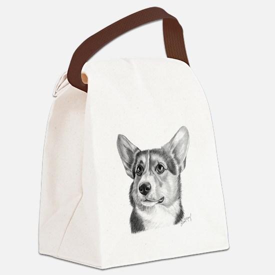 Corgi Canvas Lunch Bag