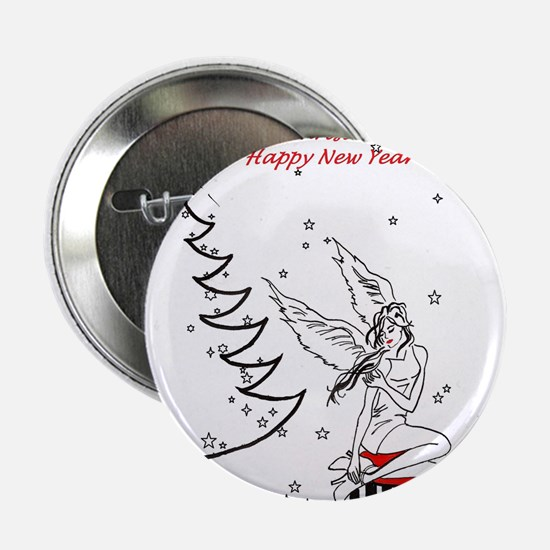 """Merry Christmas & Happy New Year 2.25"""" Button"""