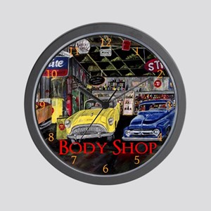 Body Shop Classic Car by Mark Moore Wall Clock