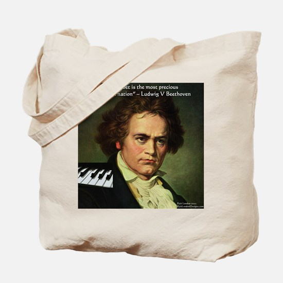 Beethoven Graphic Poetry Quote Tote Bag