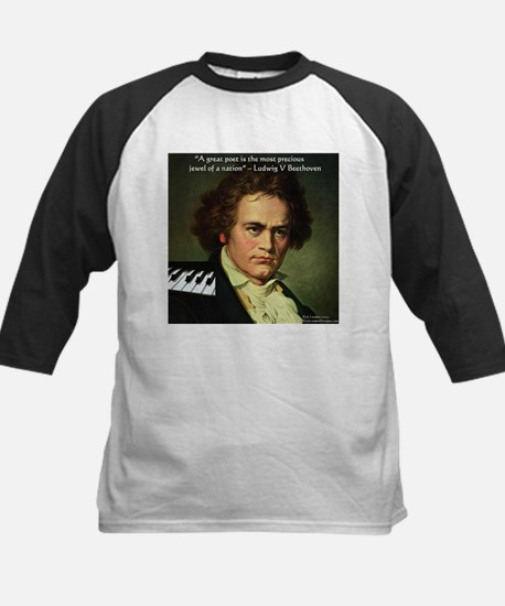 Beethoven Graphic Poetry Quote Kids Baseball Jerse
