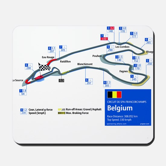 Formula 1 - Spa-Francorchamps Mousepad