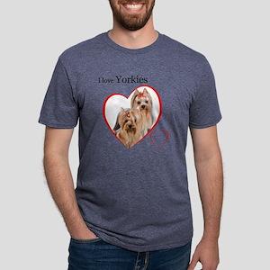 Yorkie Mens Tri-blend T-Shirt