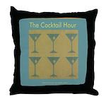 Martini Cocktail Hour Throw Pillow