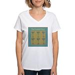 Martini Cocktail Hour Women's V-Neck T-Shirt