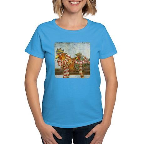 Winter Chickens Women's Dark T-Shirt