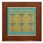 Martini Cocktail Hour Framed Tile