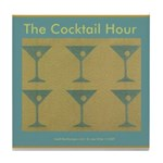 Martini Cocktail Hour Tile Coaster