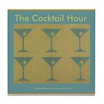 Martini Cocktail Hour Tile Coaster