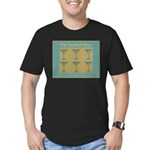 Martini Cocktail Hour Men's Fitted T-Shirt (dark)