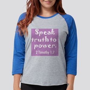 speak truth lg lite Womens Baseball Tee
