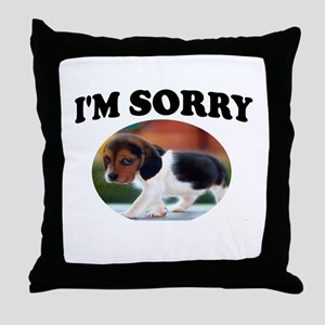 SORRY PUPPY Throw Pillow