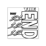 12 12 21 THE END Square Sticker 3