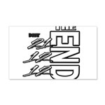 12 12 21 THE END 20x12 Wall Decal