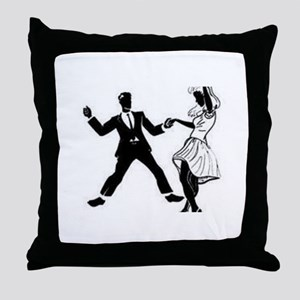 Swing Dancers Throw Pillow