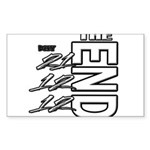 12 12 21 THE END Sticker (Rectangle)