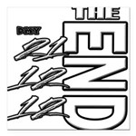 12 12 21 THE END Square Car Magnet 3