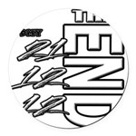 12 12 21 THE END Round Car Magnet