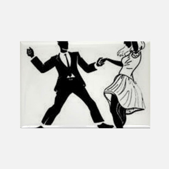 Swing Dancers Rectangle Magnet