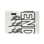 12 12 21 THE END Rectangle Magnet
