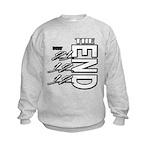 12 12 21 THE END Kids Sweatshirt