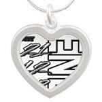 12 12 21 THE END Silver Heart Necklace