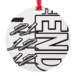 12 12 21 THE END Round Ornament