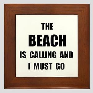 Beach Calling Framed Tile