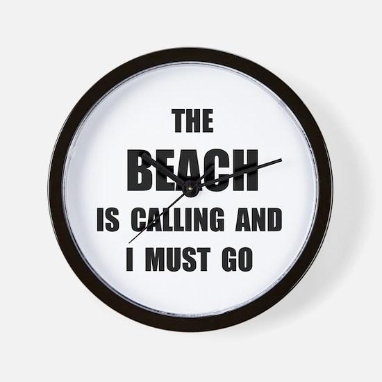 Beach Calling Wall Clock