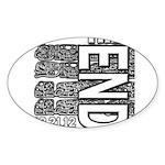 MAYA 2012 Sticker (Oval)
