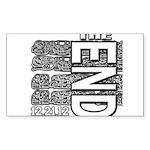 MAYA 2012 Sticker (Rectangle)