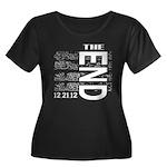 MAYA 2012 Women's Plus Size Scoop Neck Dark T-Shir