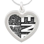 MAYA 2012 Silver Heart Necklace