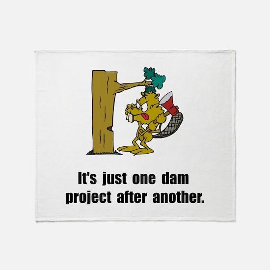 Beaver Dam Throw Blanket