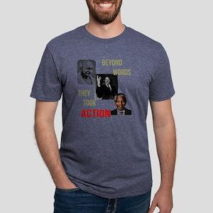 Gandhi MLK Madela Mens Tri-blend T-Shirt